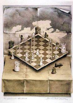 Mc Escher chessboard