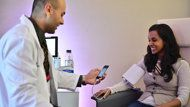 """""""Can a Smartphone Do What Your Doctor Does?"""" Smart phone apps from TedMed 2013, most of them FDA approved, that get equivalent results to pricey lab tests. SpiroSmart is an app that looks at lung function."""