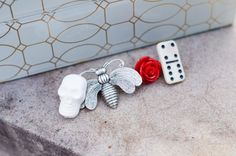 Unconventional Dapper Lapel Pin Set by PinItOnYou on Etsy Esty, Lapel Pins, Dapper, Headbands, Bows, Etsy Shop, Beige, Personalized Items, Red