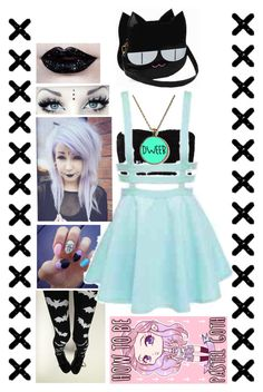 """""""Pastel Goth!"""" by tips-here ❤ liked on Polyvore"""