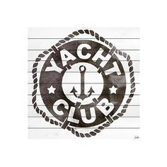 """Yacht Club 32"""" x 32"""" Mixed Media (15 445 UAH) ❤ liked on Polyvore featuring home, home decor, wall art, nautical wall art, nautical home decor, mixed media wall art, white wall art and white home decor"""