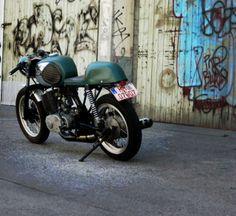 MZ TS 250 Café Racer --- LOL a witness of the iron curtain...Honecker Racing:)