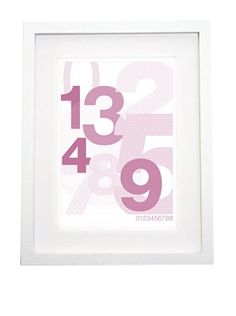 """Olli & Lime Logan 123 Wall Art, 27.5"""" x 19.75"""" by Olli & Lime. $30.00. This number wall art is the perfect addition to a modern nursery. Printed on recycled paper, to fit a standard-sized frame. Includes: 1 wall art print: 19 3/4"""" x 27 1/2"""". Frame not included. Material: 100% recycled heavyweight paper. Printed in the UK."""