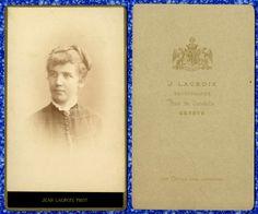 DONNA CDV 571 FOTO D EPOCA F.GABINETTO/CARTE DA VISITE-J.LACROIX-GENEVE (SUISSE)
