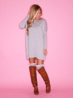 piko tunic dress and boots