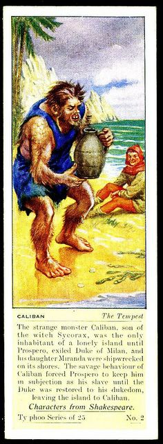 Typhoo Tea Card - Caliban ~ The Tempest by cigcardpix, via Flickr