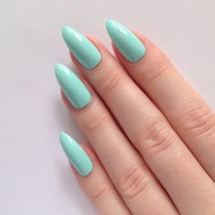 Pastel Blue Stiletto nails Nail designs Nail by prettylittlepolish Long Nails, My Nails, Short Nails, Blue Stiletto Nails, Pastel Blue Nails, Mint Green Nails, Mint Blue, Pastel Art, Pastel Colors