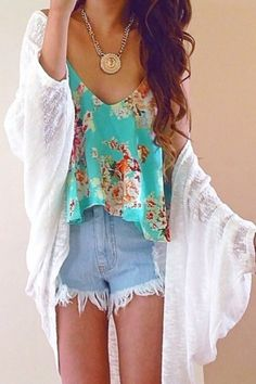 Floral top boho style