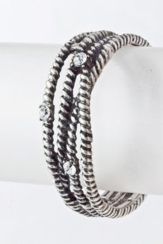 Edgy and modern, the layered bracelet with crystal studs. $18 https://www.krisandkate.com/dealoftheday.html