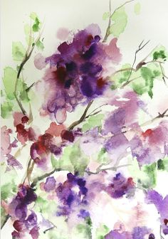 Spring noise - watercolor painting