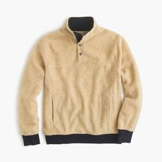 J.Crew Gift Guide: men's grizzly fleece pullover jacket.