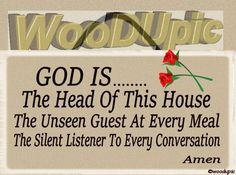 Christian-Prayer-Plaques - 5X10 Wood, Sign, Plaque - God is the head OR This house is protected - Two Styles by WoodUpic on Etsy