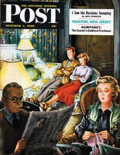 1949-10-01: TV Date (Constantin Alajalov) Saturday Evening Post