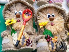 Рукоделие, оригинальные игрушки в виде забавных кукол — Стоковое фото © Georgina198 #145190561