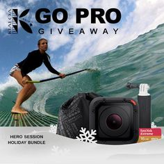 ENTER HERE: http://swee.ps/PDyHcsID  Win a GoPro® HERO Session™ Holiday Bundle!