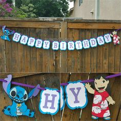 LILO AND STITCH Banner Centerpiece High Chair by IDPartyDesigns