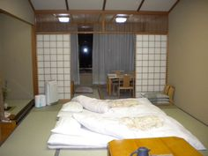 Minimalist Traditional Japanese Bedroom Ideas  - the idea is to have as little to destroy as possible, while making it look nice at the same time