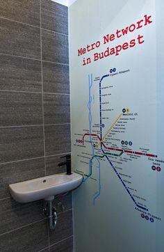 Budapest metro network map in'da loo, designed by Rita Pascal www.muzeumkrt.strikingly.com