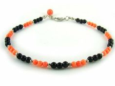 AA0247 Coral Onyx Natural Crystal Bead Anklet Wagga Shop. $22.00. Coral Round 3mm. Natural Crystal Bead Anklet. Onyx Round 4mm. Save 19% Off!