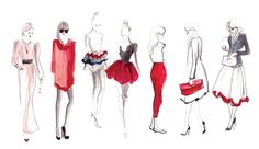 Fashion sketches by  Inslee Haynes.