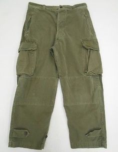 Vintage 50s FRENCH Military M-47 Herringbone Twill HBT Army CARGO Pants 32 Q3 in Collectibles, Militaria, 1954-60, Original Period Items | eBay