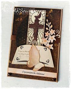 ARSownia: 304. Urodzinowa kartka dla księdza Confirmation Cards, Baby Cards, Design Inspiration, Invitations, Graphic Design, Drawings, Ideas, First Holy Communion, Communion