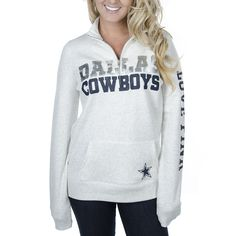 Dallas Cowboys PINK Half Zip Fleece Top | Dallas Cowboys Clothing | Dallas Cowboys Store - Dallas Cowboys Pro Shop