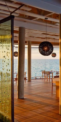 Dine with endless views of the Ocean in the Maldives - #Kuramathi #Island #Beach #Beach #Restaurants #Luxury #Travel #Honeymoon http://www.puredestinations.co.uk/resort/kuramathi-island-resort/