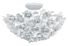 Buy the Crystorama Lighting Group Wet White Direct. Shop for the Crystorama Lighting Group Wet White Cypress 3 Light Wide Semi Flush Ceiling Fixture with Iron Floral Accents and save. Flush Mount Chandelier, Flush Mount Lighting, Flush Mount Ceiling, Ceiling Light Fixtures, Ceiling Lights, Light Fittings, Ceiling Lamp, Wrought Iron Chandeliers, Banner