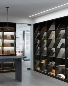 The Esplanaden Showroom - Garde Hvalsoe Showroom Interior Design, Tile Showroom, Retail Interior, Furniture Showroom, Design Studio Office, Workspace Design, Shop Interiors, Office Interiors, Material Library