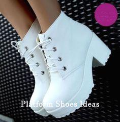 platform shoes sneakers Goth Style 605452743632870141 - shoes creepers grunge sneakers soft grunge lolita kawaii gyaru anime platform boots pastel goth high heels platform shoes denisebonitaelisa whrite shoes Source by NevaKT Chunky Heel Ankle Boots, Heeled Boots, Shoe Boots, Chunky Boots, Shoes Heels, Louboutin Shoes, Shoes Sneakers, Shoes Men, Boot Heels