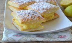 Quadrotti di sfoglia con crema al limone ricetta veloce
