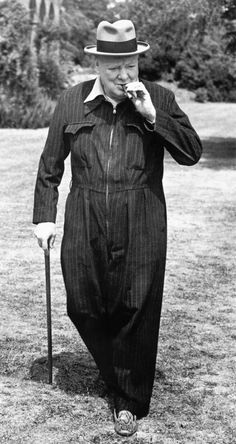"""Winston Churchill's siren suit is one of those garments that falls into the category """"brilliant & nuts"""". From a boiler suit to a siren suit The story goesthat Winston Churchi…"""