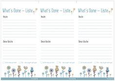 What's Done List | Schluss mit frustig!