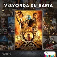 Mısır Tanrıları bu hafta sizi Arcadium Sinema'ya çağırıyor. Merakla beklenen film vizyonda! #arcadiumavm