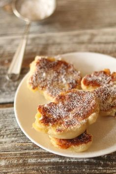 Thermomix przepisy. Drożdżowe racuchy. French Toast, Food And Drink, Sweets, Cooking, Breakfast, Pierogi, Recipes, Kochen, Kitchen