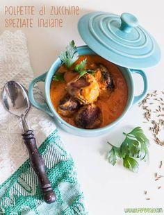 polpette alle zucchine speziate, indane con salsa al latte di cocco #cucinaindiana #vegano #zucchine