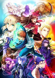 fate heaven's feel----> Irisviel (Dress of Heaven)-Matou Sakura-Archer Emiya-Tohsaka Rin-SAber Artoria-Emiya Shirou-Gilgamesh-Kotomine Kirey-Cu Chulainn-Medea-Medusa-Heracles-Sasaki Kojirou