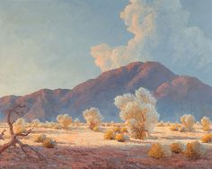 "JOHN WILLIAM HILTON ~ American / California (1904-1983)  ""DESERT AFTERNOON"", Oil on panel"