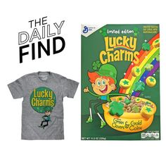"""The Daily Find: Lucky Charms T-Shirt"" by polyvore-editorial ❤ liked on Polyvore featuring DailyFind"