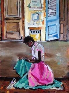 80 X 60 óleo sobre tela - pintado em 03/06/2012  by Georgia Lobo