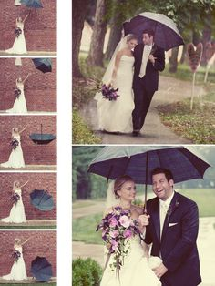 A Bride with an umbrella is unstoppable! Find umbrellas for rent and/or sale at splendorforyourguests.com!  Splendor for Your Guests | Rental Company | Weddings | Events | Shawls | Blankets | Umbrellas | Parasols | Fans