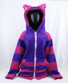 New cats anime cheshire Ideas Cheshire Cat Hoodie, Cheshire Cat Cosplay, Future Girlfriend, Anime Cat, Ear Jacket, Anime Animals, Cat Costumes, Cosplay Outfits, Unisex