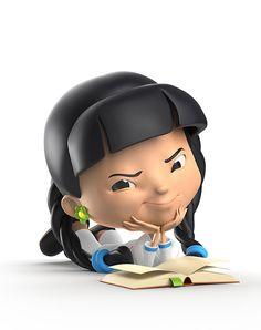 Galería que muestra algunos diseños de personajes 3D de niños realizados por Warner McGee y los cuales realizo con el diseñador Tim Cooper.