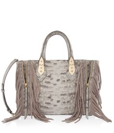 A-List Lizard Fringe Satchel | Handbags | Henri Bendel --- DO YOU REALLY NEED THIS CLARYS LOL