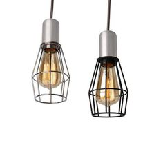 This modern diamond shaped cage pendant light with decorative filament light bulb is available in chrome and black cage color. This head turner cage pendant . Cage Pendant Light, Cage Light, Pendant Lights, Light Bulb, Steel Cage, Vintage Lighting, Kitchen Lighting, Diamond Shapes, Chrome