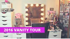 2016 Vanity Tour | Makeup Collection Storage and Organization
