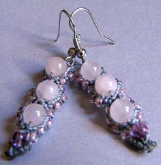 Micro Macrame Earring Patterns | previous image go back to new micro macrame earring designs