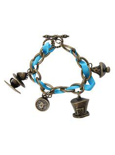 Disney Alice In Wonderland Charm Bracelet   Hot Topic