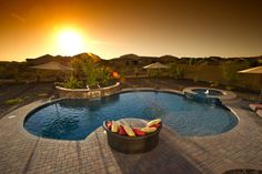 Kirby - eclectic - pool - phoenix - California Pools & Landscape   36x23'......116'pool perimeter